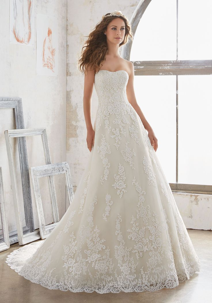 Simple  best Mori Lee Bridal images on Pinterest Wedding dressses Wedding dress styles and Bridal wedding dresses