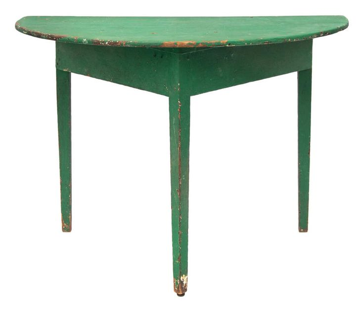 19th c new england pine inearly green painted finish for Round table 85 ortenau