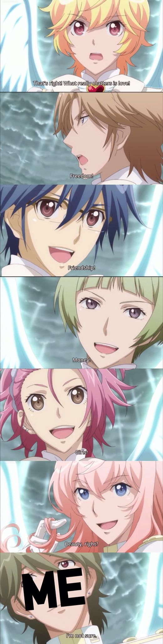 "Cute High Earth Defense Club LOVE! Episode 12 relatable post. Only problem, they left out my favorite. ""For Binan HighSchool to remain Binzn HighSchool!"""
