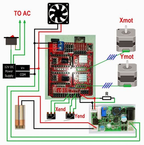 617 best cnc_arduino images on pinterest cnc router, cnc machine on cnc limit switch wiring diagram arduino Trim Limit Switch Wiring Diagram A 3 Way Switch Wire Diagram for Dummies
