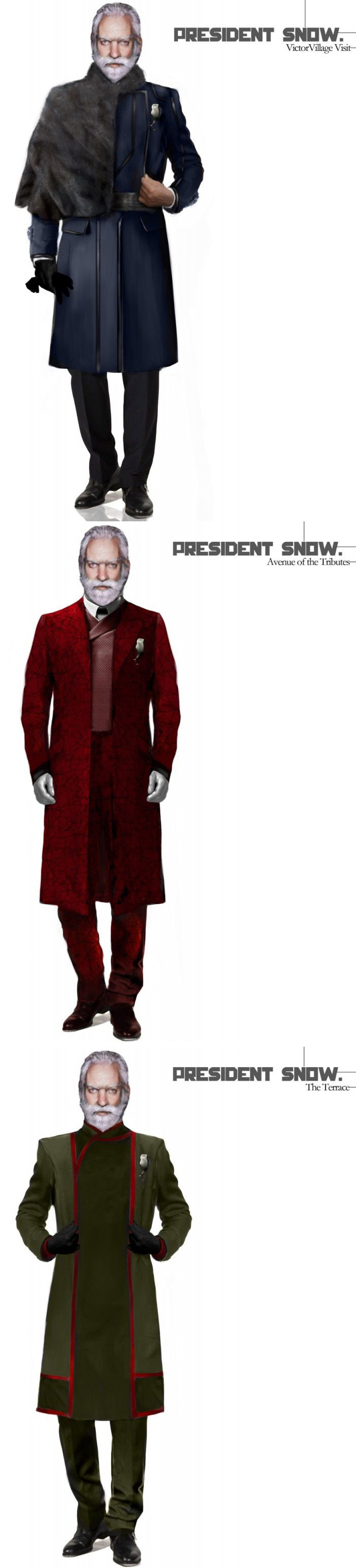 President Snow costume designs by Trish Summerville