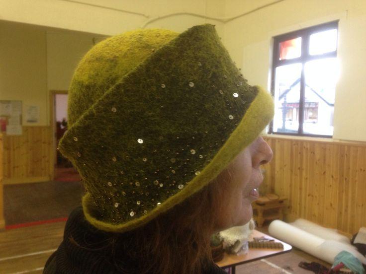 Wonderful hats from Dawn Edwards's amazing nuno felt hat workshops ...