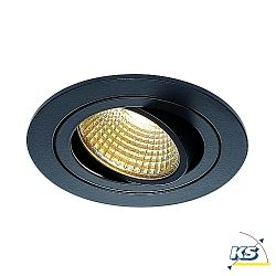 LED Deckeneinbaustrahler NEW TRIA DL SET, rund, 6,2W, COB LED, 2700K, 38°, inkl. Treiber,Clipfedern, schwarz