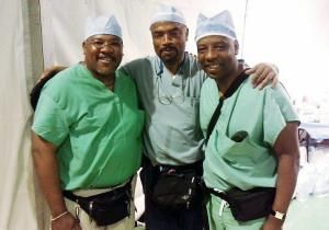 The Ford brothers - Jean, Henri and Billy (l. to r.) - are Haitian-American doctors who were reared in Brooklyn. They are working to save lives in their earthquake-ravaged homeland