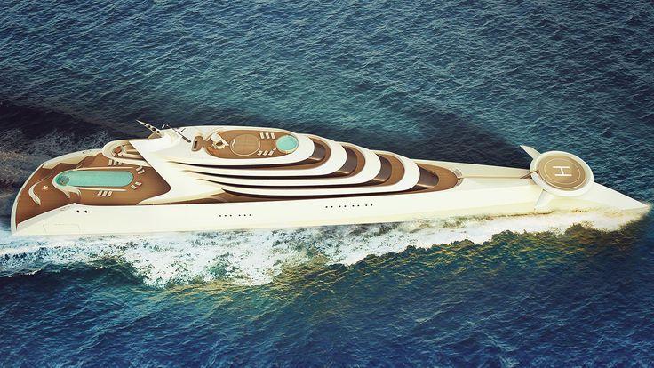 190m superyacht concept L'amage