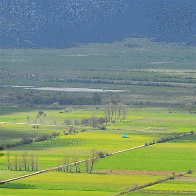 cute cloud say hello! greek fields, amazing landscapes of korinthia
