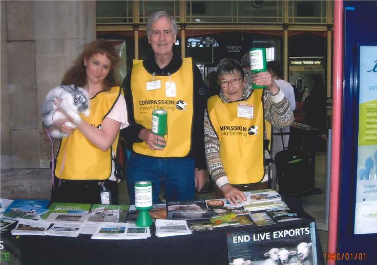 Some old photos from our lovely supporters. Supporters Natasha, Gil, and Jean run a stall in Bristol! Thank you to everyone who has donated their time and money, and to everyone who continues to give support. We will end cruel and barbaric farming practices!