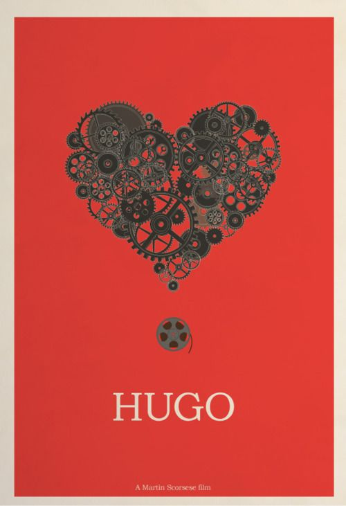 Hugo minimal film poster. I've read the book (brilliant!) but not seen the film yet.