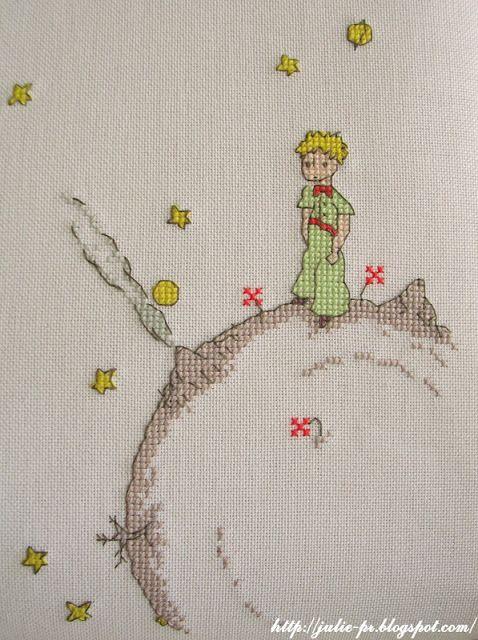 Сумка для ноутбука, чемодан, маленький принц, Little prince, Petit prince, вышивка крестом