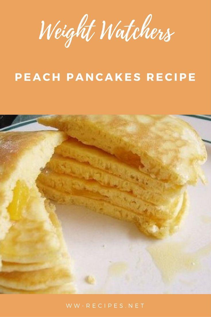 Weight Watchers peach pancakes recipe
