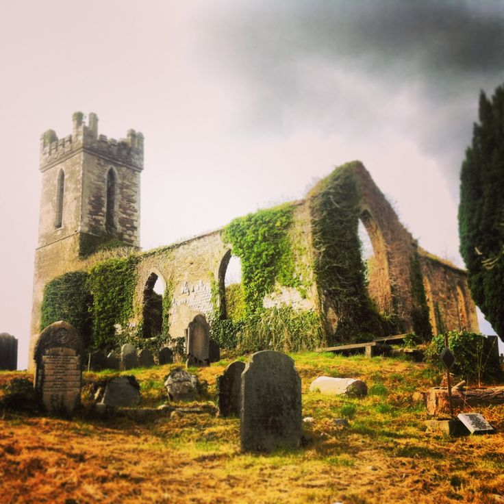 Remains of a church and grave in Ireland. Stunning!