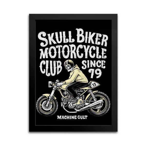 Quadro Motocicleta Antiga Decoração - Machine Cult   Loja online especializada em camisetas, miniaturas, quadros, placas e decoração temática de carros, motos e bikes