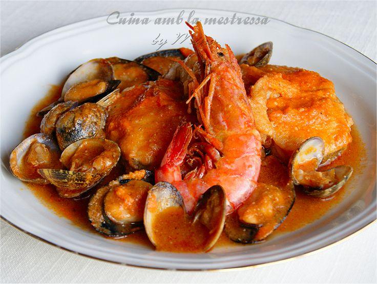 Cuina amb la mestressa: Romescada de pescado y marisco