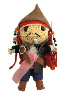 Handmade Pirate Captain String Doll - watchover-voodoo-dolls-and-string-dolls Photo