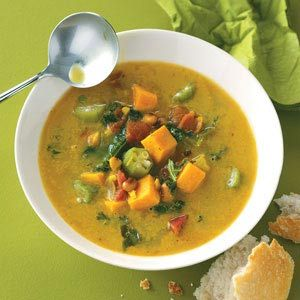 Caribbean Potato Soup Quick Dinner Recipe from Taste of Home -- shared by Crystal Bruns of Iliff, Colorado