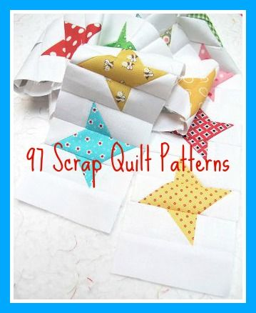 97 Scrap Quilt Patterns and Ways to Use Up Scrap Fabric - We've rounded up all of our best collections of thrifty scrap quilt patterns and organizing ideas that we know you can use.