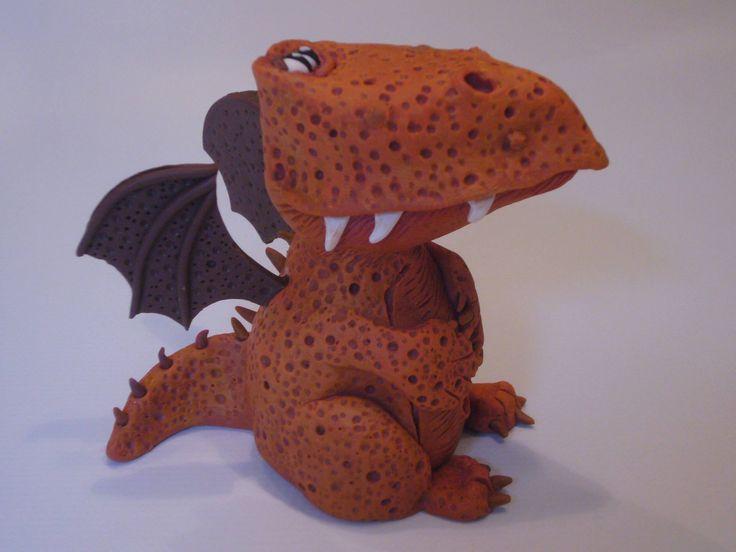 Alena Vallendor - figurka draka z polymerové hmoty podle workshopu od Alessio Busanca