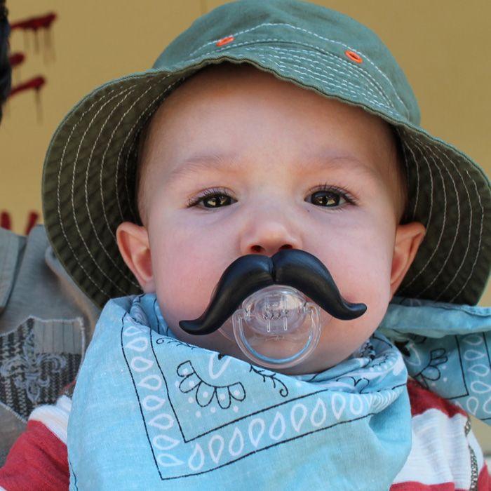 Mustache Pacifier...too hilarious!!