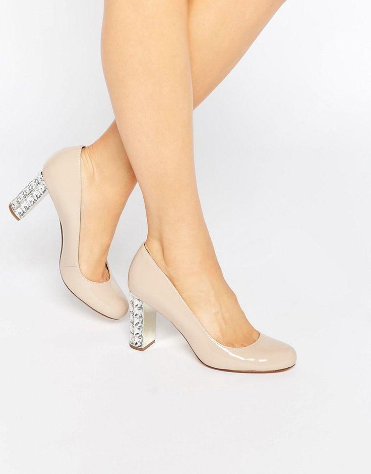 Image 1 ofDune Jewel Heel Patent Court Shoe
