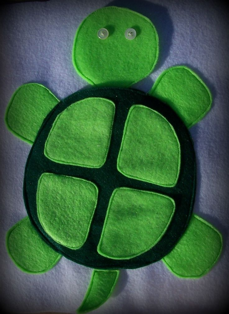 Turtle Page - head hides if you pull the ribbon tail