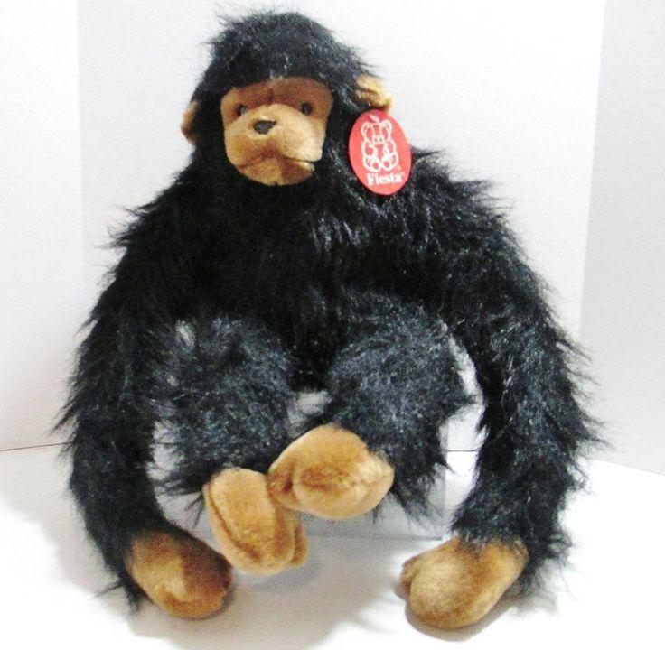 "Fiesta Plush Animal - Fuzzy Freddy - 2002 Stuffed Chimpanzee (Chimp) 24"" Tall #Fiesta ..... Visit all of our online locations ..... (www.stores.eBay.com/variety-on-a-budget) ..... (www.amazon.com/shops/Variety-on-a-Budget) ..... (www.etsy.com/shop/VarietyonaBudget) ..... (www.bonanza.com/booths/VarietyonaBudget ) .....(www.facebook.com/VarietyonaBudgetOnlineShopping)"