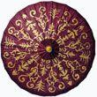 Dark Red 28 Inch Gilded Parasol (henna design)