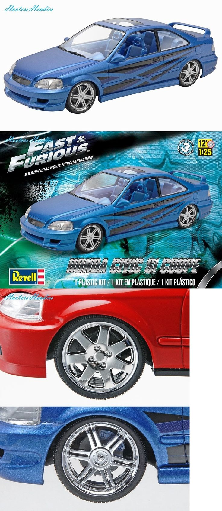 1 25 Scale 145975: Revell Monogram Fast Furious Honda Civic Si Coupe Model Kit -> BUY IT NOW ONLY: $31.51 on eBay!
