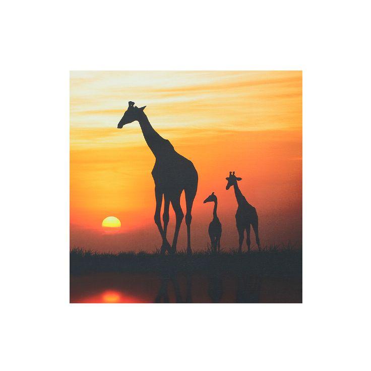 Een bijzondere herinnering aan Afrika of gewoon een absolute natuurliefhebber? Dan is dit schilderij met fotoprint een must-have. Prachtig plaatje van een moeder giraffe met haar kroost, bij de zonsondergang.   Een canvas doek is iets persoonlijks en zegt iets over je karakter, een bijzondere herinnering of een mooie reis. www.magazijnshopper.nl | #Canvasdoek #Canvas #Schilderij #Africa #Sunset