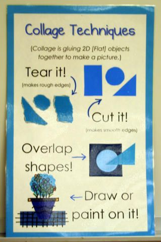 TAB Choice ArtEd elementary art education menu collage techniques