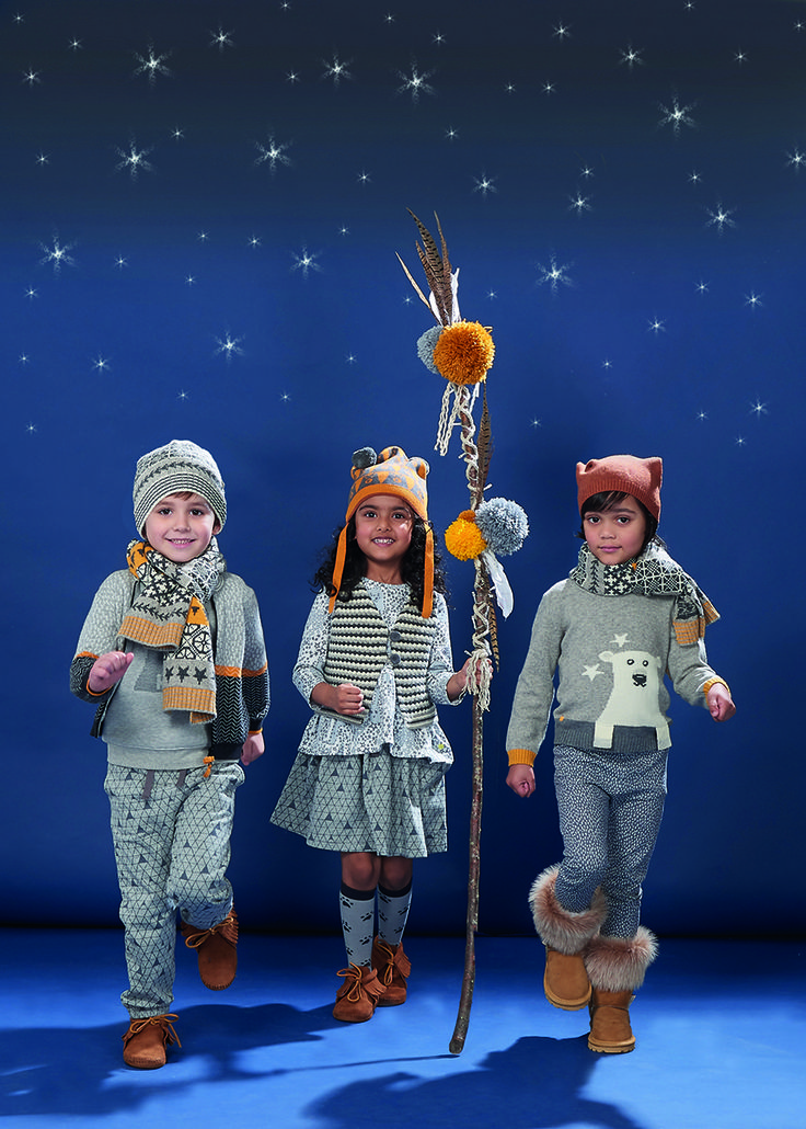 Grey is the foundation colour for the fall/winter 2016 kids fashion at The Bonnie Mob