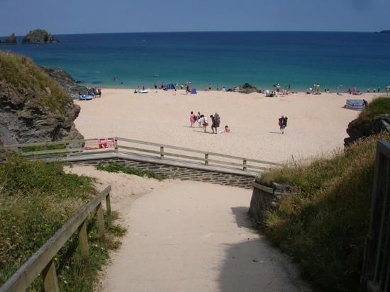 Beach at Mother Ivy's Campground Cornwall, UK