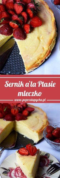 Najlepszy sernik, delikatny niczym chmurka <3 Moim zdaniem w smaku przypomina ptasie mleczko! Do tego świeże owoce na wierzchu i biała czekolada...