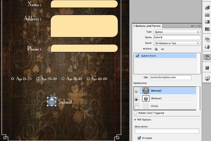 Creating Interactive PDF forms in InDesign CS6