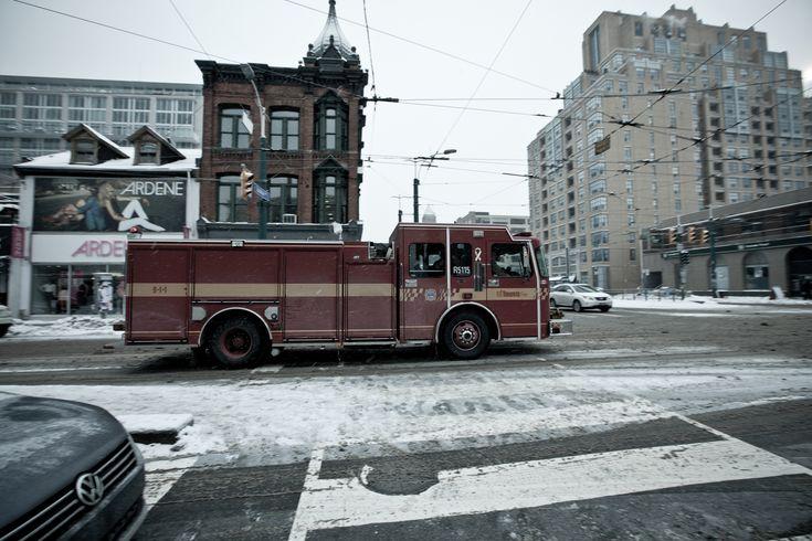 fire truck, travel, toronto, canada