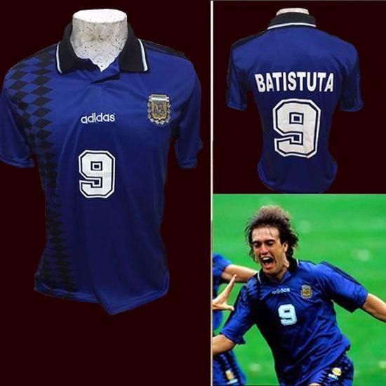 Batistuta SOCCER WORLD CUP 1994 - Jersey Argentina - REPLICA   | eBay