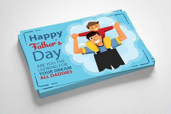 Happy Father S Day Card Template Father S Day Card Template Greeting Card Template Happy Fathers Day