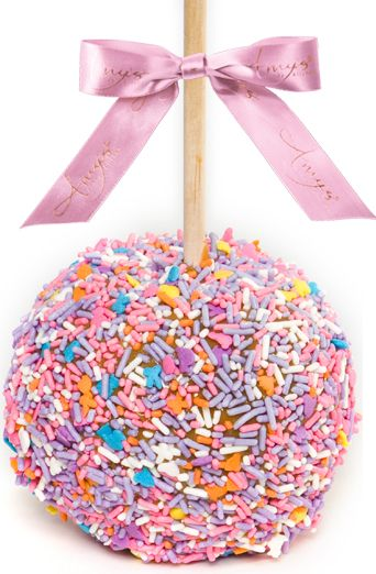 Gourmet Easter Caramel Apple with Sprinkles, Amy's Candy Kitchen
