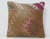 earthy pillow brown pillow cover tan pillow case bed pillow case decorative pillow sitting cushion embroidery pillow kilim pillow sham 14675