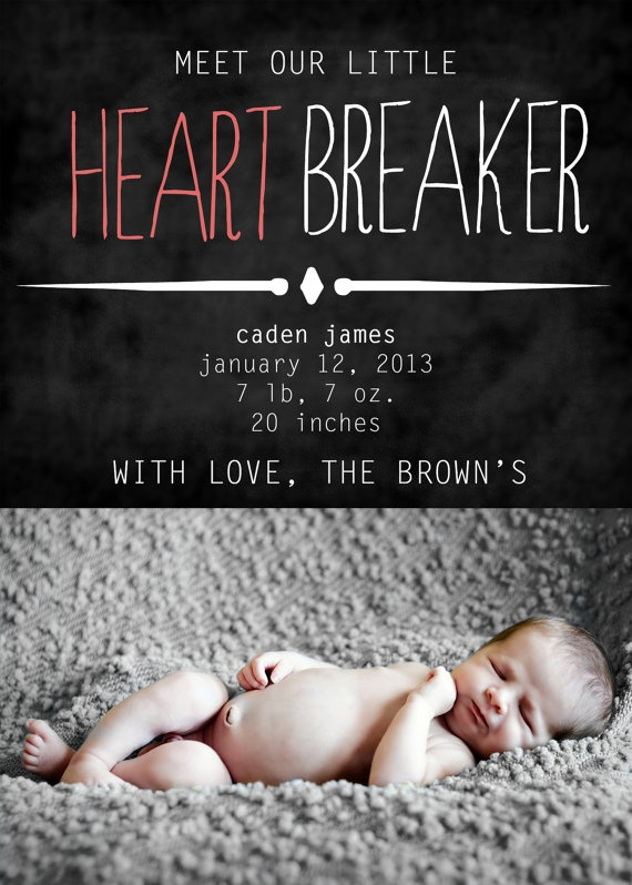1000 images about Baby birth announcements – Valentine Birth Announcement