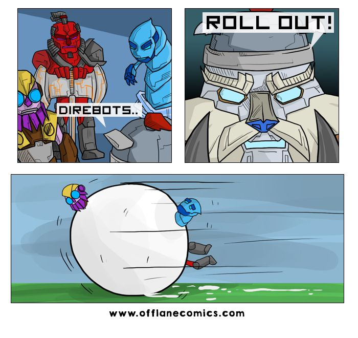 Credit to offlane comics!  Direbots rollout. Transformers