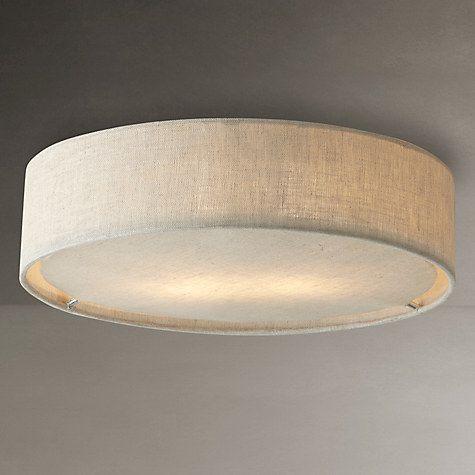 Buy John Lewis Samantha Linen Flush Ceiling Light Online at johnlewis.com