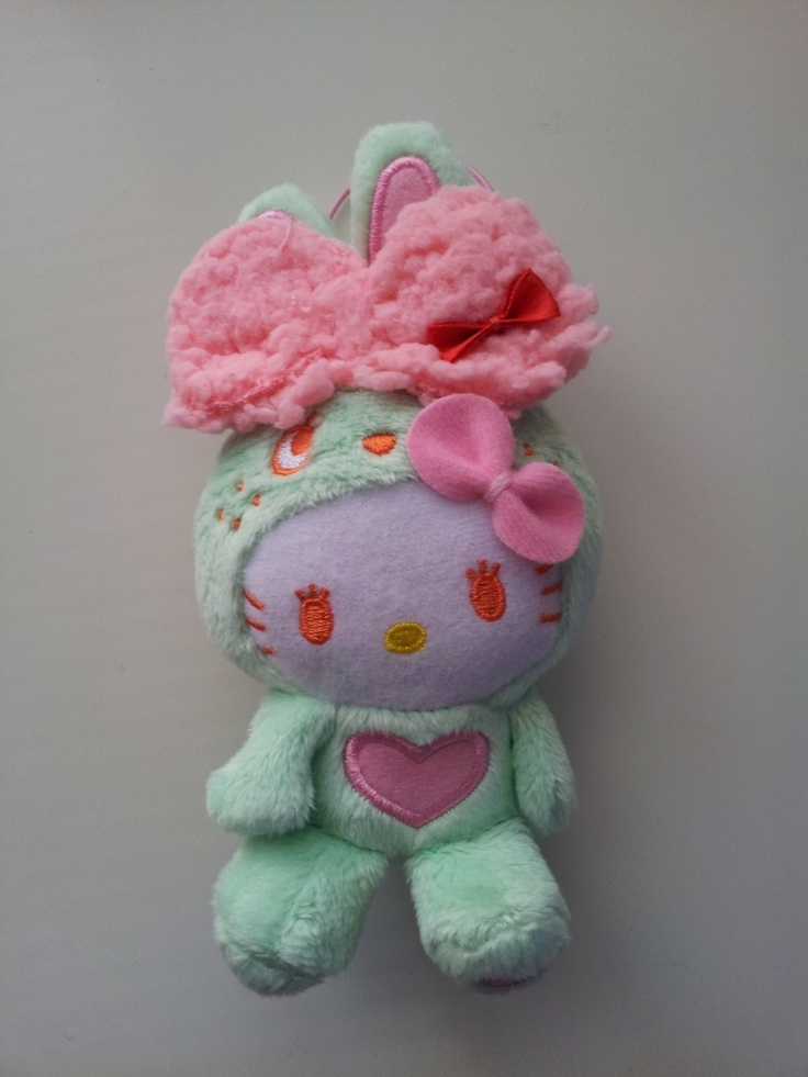 JPLand Stuff - Sanrio Hello Kitty - Colorful Bunny Plush Strap (Green), $11.99 (http://www.jplandstuff.com/sanrio-hello-kitty-colorful-bunny-plush-strap-green/)