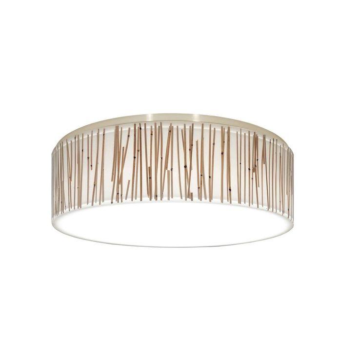 Decorative recessed ceiling light trim with drum shade