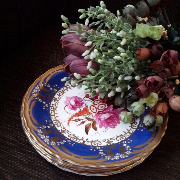Floral print plate