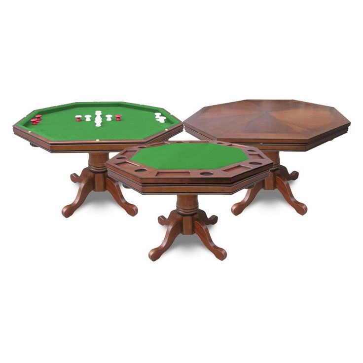 Hathaway Kingston 3-in-1 Poker / Bumper Pool Table with Set of 4 Arm Chairs - SNX539