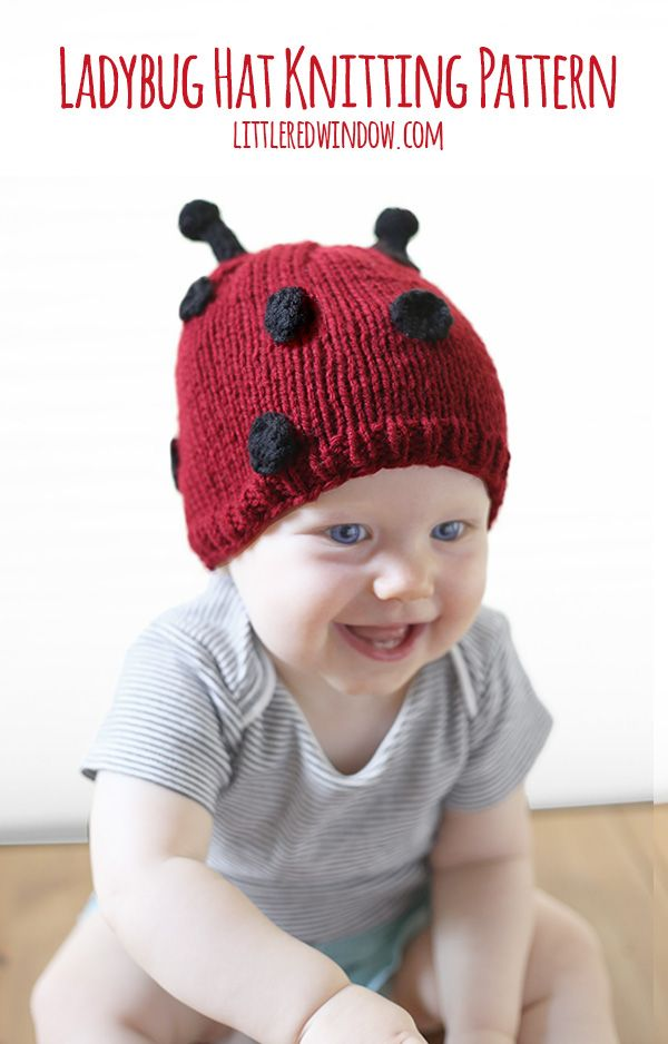 little ladybug hat knitting pattern for babies littleredwindowcom