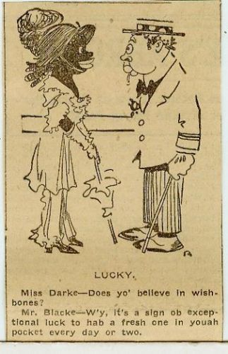 Newspaper-Cartoon-Darktown-Rastus-Racist-Colored-Black-Americana-Comic-5-1914