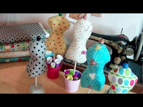 "http://www.theDIYdish.com - Join Kim and Kris for their 4th season of The DIY Dish! Learn how to make a ""dress form"" mannequin pin cushion - perfect for hold..."