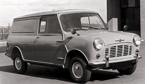 Morris Mini van.