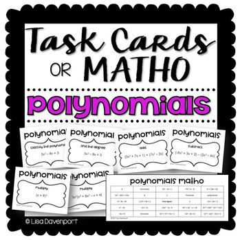 This Set Of Task Cards Provide Students With Practice Writing Inequalities Using Interval Notation They Are Organi Writing Inequalities Task Cards Polynomials